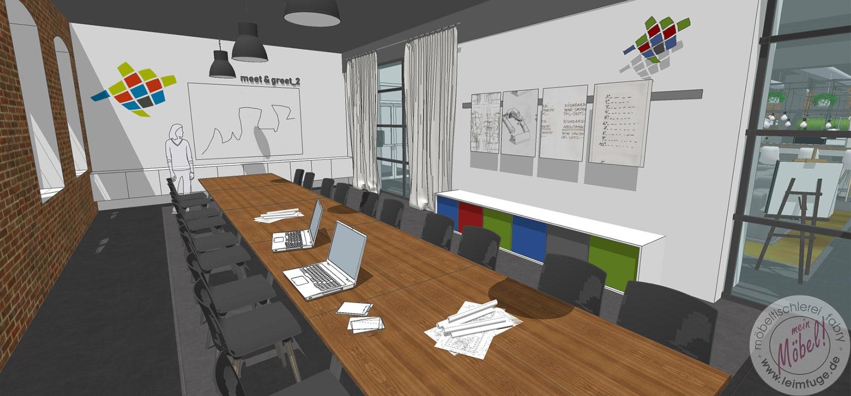 großer Konferenzraum im Mindener Innovationszentrum